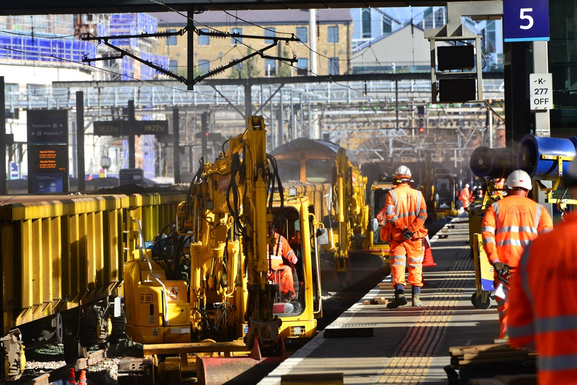 No trains in or out of London King's Cross Station on October weekend as Network Rail makes progress on £1.2billion East Coast Upgrade: No trains in or out of London King's Cross Station on October weekend as Network Rail makes progress on £1.2billion East Coast Upgrade