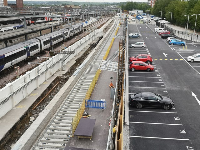 Work to upgrade railway in Yorkshire means changes for services over Late May Bank Holiday weekend – those who must travel urged to plan ahead: Work progressing on the construction of a new platform at Leeds station
