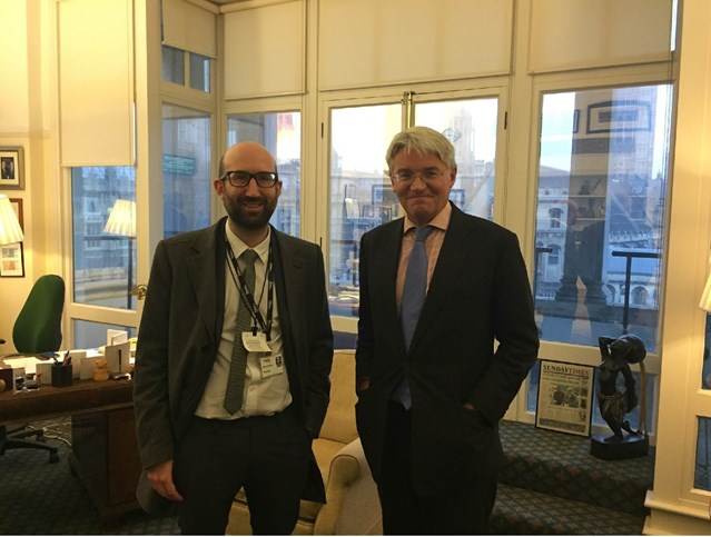Investment boost for Sutton Coldfield stations: Chris Skilton with Andrew Mitchell MP