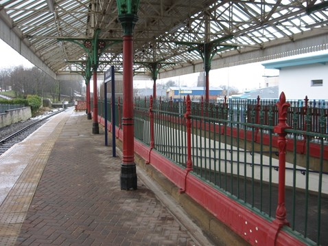 Subway railings (before)