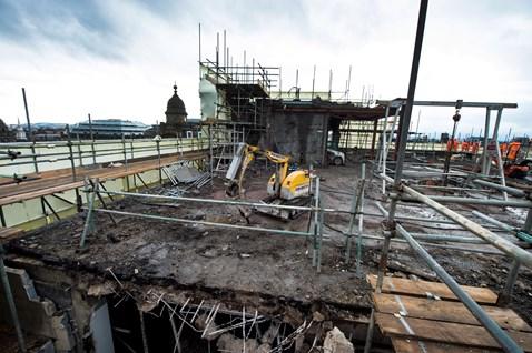 Glasgow Queen Street - Consort House demolition 1