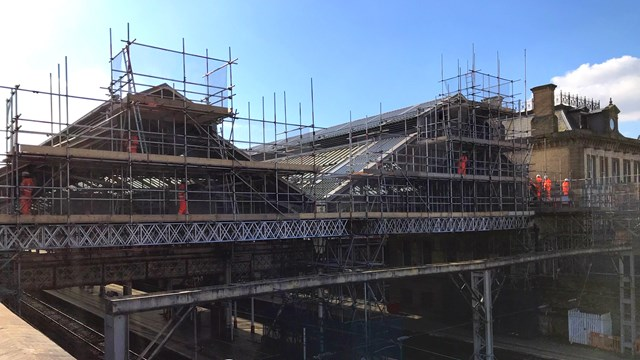 Preston station's historic glazing gets identical looking modern replacement: Preston station gable end upgrade