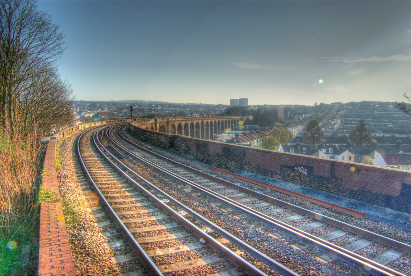 Rail passengers advised to check before travelling on Thursday as Storm Doris hits South East: London Road viaduct, Brighton (1)