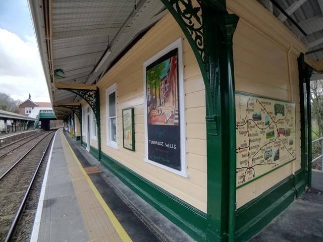 Eridge mural rail map in situ