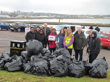 Action Earth litter pick-up at Torry Battery, Aberdeen: Volunteers at the Action Earth litter pick-up at Torry Battery, Aberdeen, on May 29, 2015.