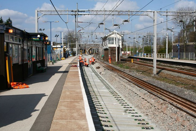 Trent Valley 4 Tracking Project: Trent Valley 4 Tracking - Installation of new track at Lichfield Trent Valley Station