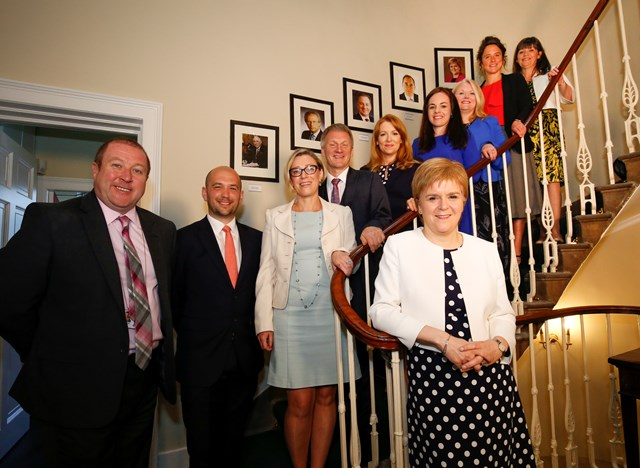 New ministers - staircase