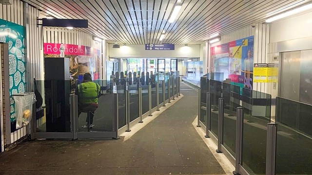New ticket barriers at Rochdale station