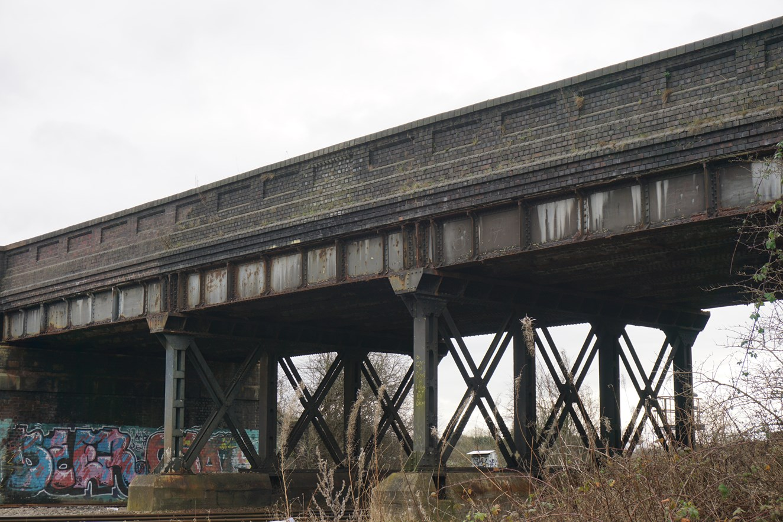 Railway upgrade under way in Ilkeston: Awsworth Bridge in Ilkeston