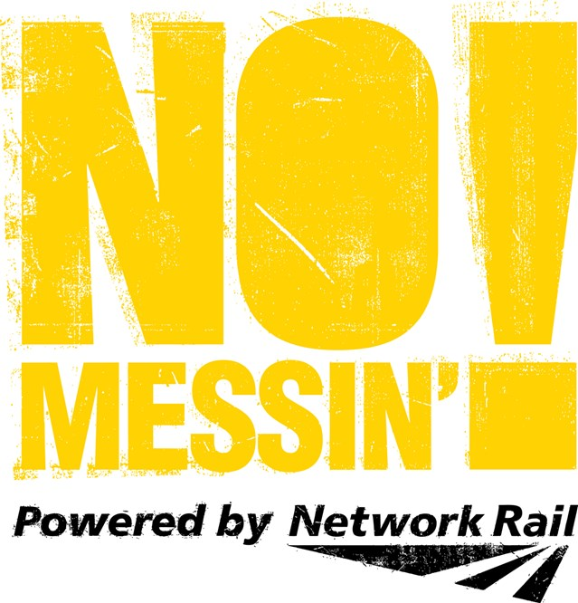 WILTSHIRE YOUNG OFFENDERS TUNE IN TO BATTLE AGAINST RAIL CRIME: No Messin Logo Yellow