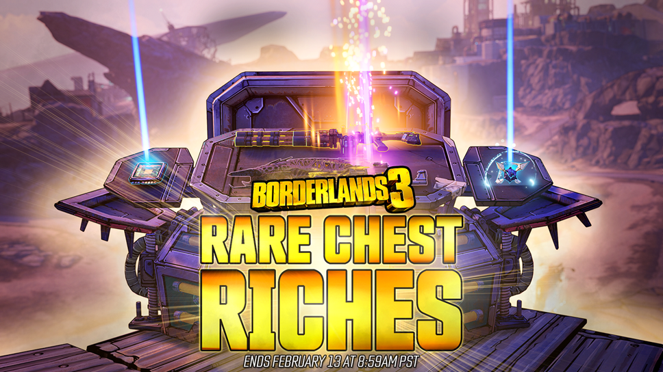 Score Rare Loot More Often During Borderlands® 3's 'Rare Chest Riches' Two-Week Mini-Event: BL3 Rare Chest Riches Mini Event