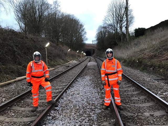 Track-engineering father and son keep railway running safely: Howerd Kernahan and his son Rafael