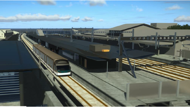 Image design of the planned new track and platform