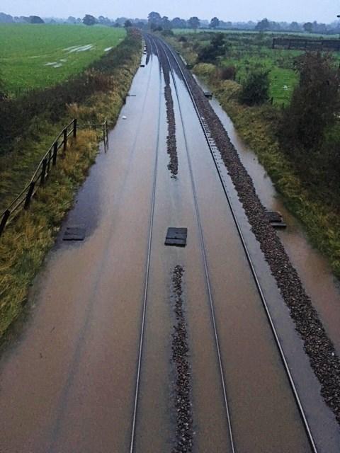 Flooding Beeston Castle 2019
