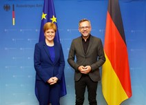First Minister with German Minister for Europe Michael Roth