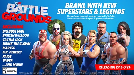WWE2K BG Roster Update 5 Infographic