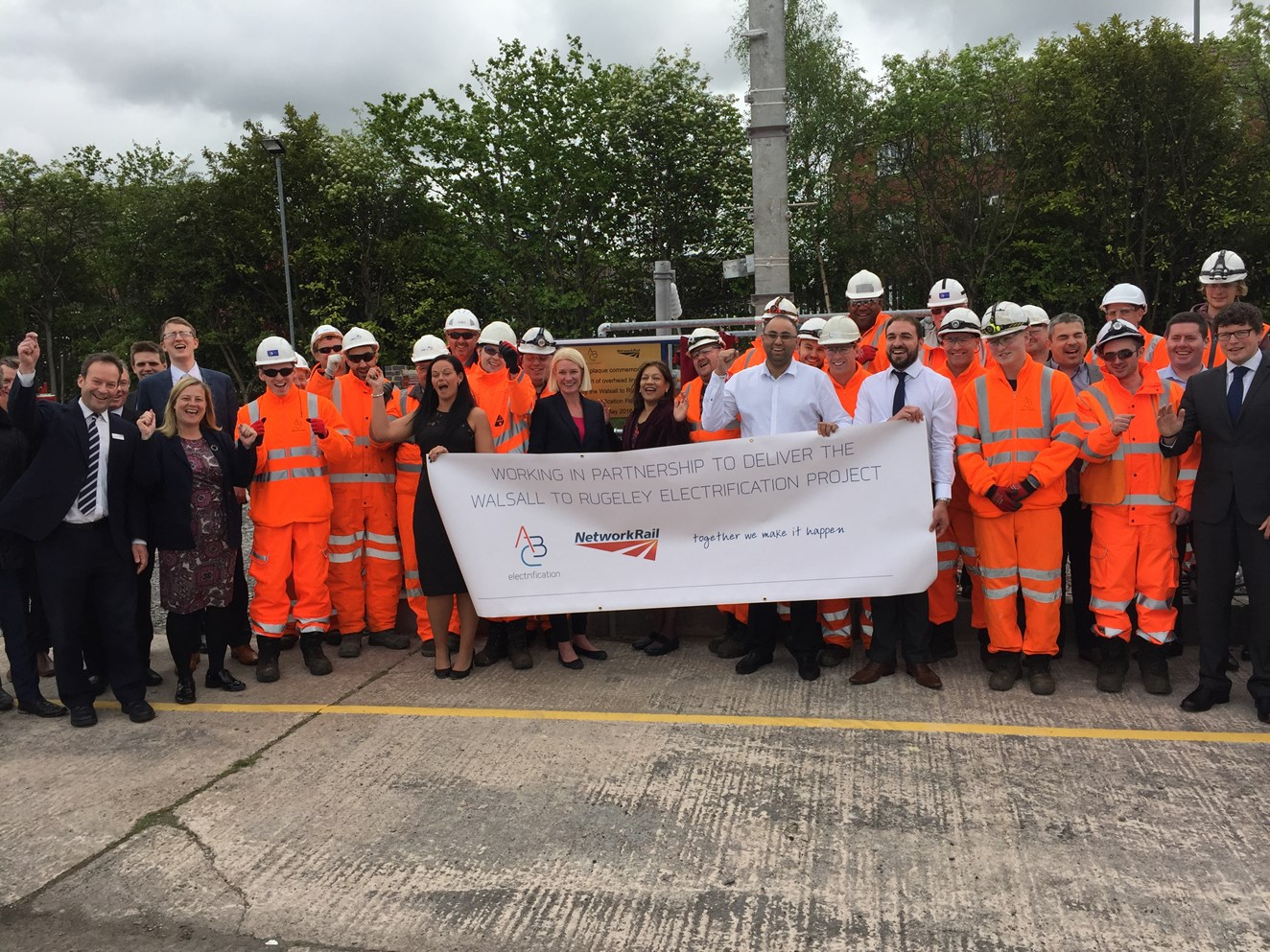 MPs see first-hand work to improve the railway between Walsall and Rugeley: Walsall to Rugeley electrification