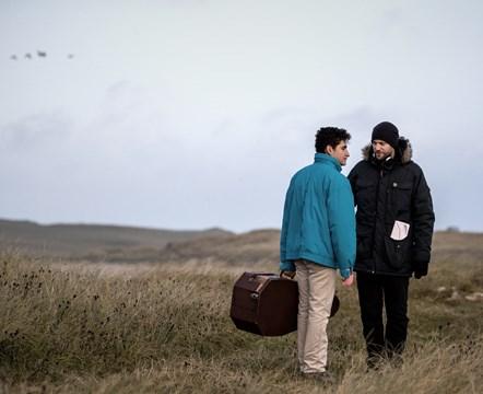 Limbo Actor Amir El-Masry with Limbo Director Ben Sharrock