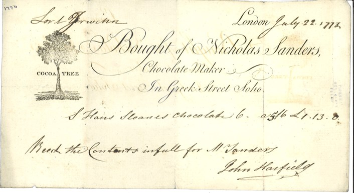 Archives choc full of tales about sweet life of estate's lords and ladies: wyl100-ea-12-1-1774-chocolatemaker.jpg