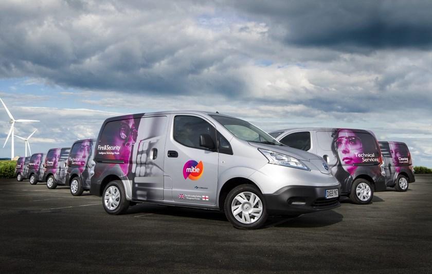 Mitie's electric vans