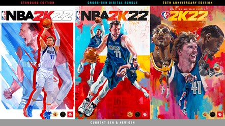 NBA 2K22 Side by Side Packshot