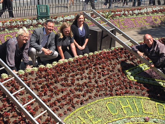 LATEST NEWS: Floral Clock resplendent for Save the Children centenary: floral clock 2019 1