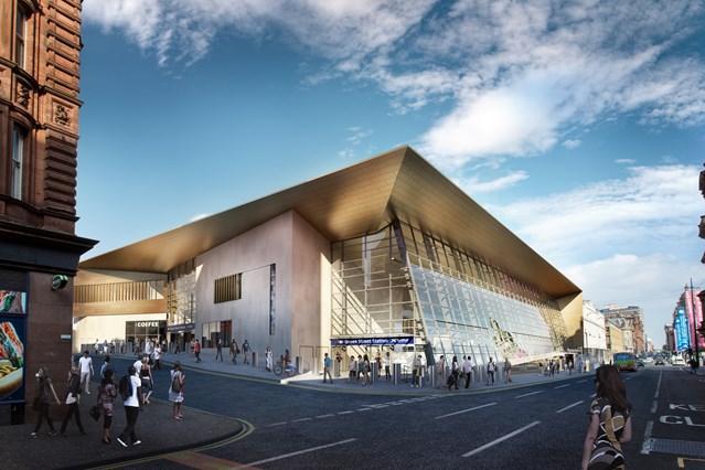 Next phase of Glasgow Queen Street station redevelopment gets underway: 27 July GQS Dundas Street Corner Hi Res