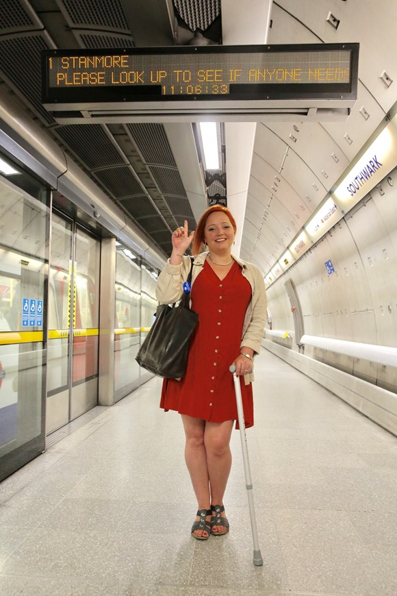 TfL Press Release - Transport for London backs customer's campaign to ask passengers to Look Up and offer their seat: TfL Image - Corry Shaw 3