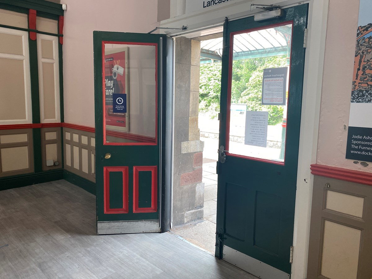 Accessibility Fund Cumbria - Ticket office door inside