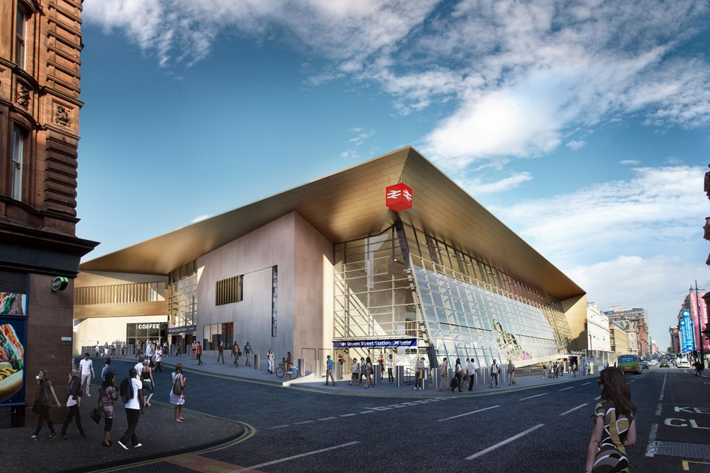 New platforms on-track for Glasgow Queen Street: Queen Street - Exterior 2