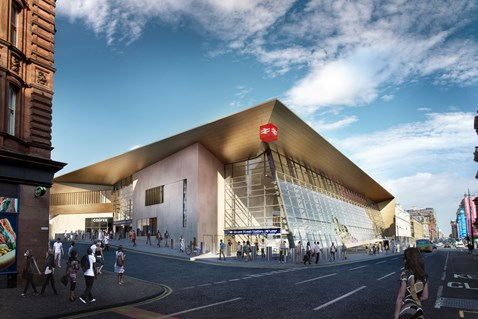 Glasgow Queen Street redevelopment enters new phase: Queen Street - Exterior 2