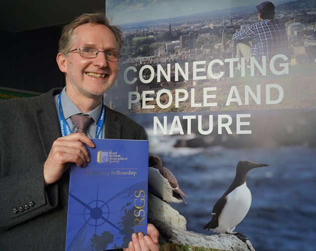 Dr Clive Mitchell awarded Honorary Fellowship of the Royal Scottish Geographical Society: Dr Clive Mitchell