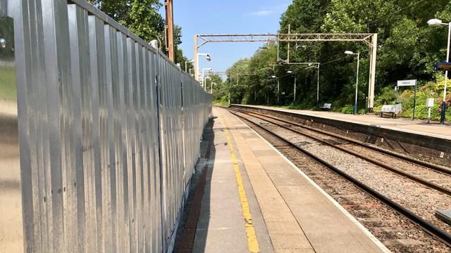Platform at Kidsgrove station July 2019
