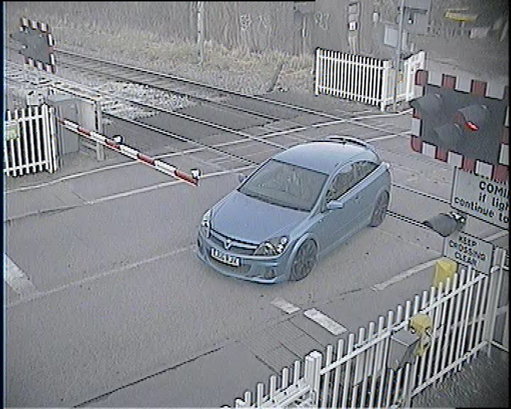 Huge reduction in dangerous driving at Hertfordshire level crossing following installation of safety cameras: Wharf Road level crossing-4