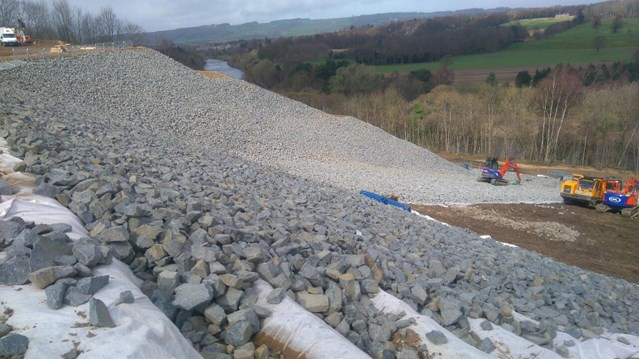 Residents thanked as work continues to repair landslip between Carlisle and Newcastle: Work is still going on at Farnley Haugh above the West Line