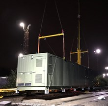 A principal supply point (PSP) unit being installed at Landore.
