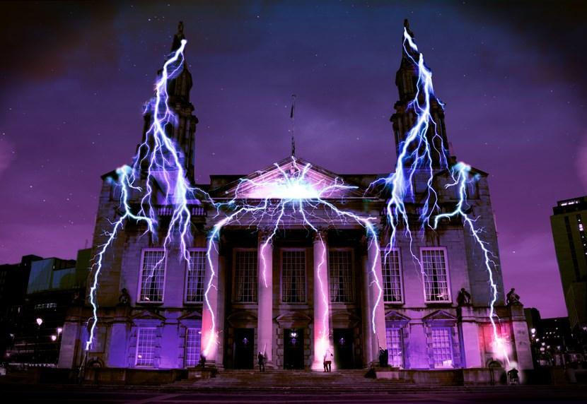 Natural wonders to illuminate Leeds as Light Night returns: 01. Lightning Catchers by Seb Lee-Delisle