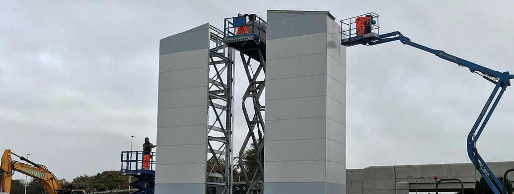 Tower lifts a step towards improved accessibility at West Calder station: 18 Oct Lift shafts small