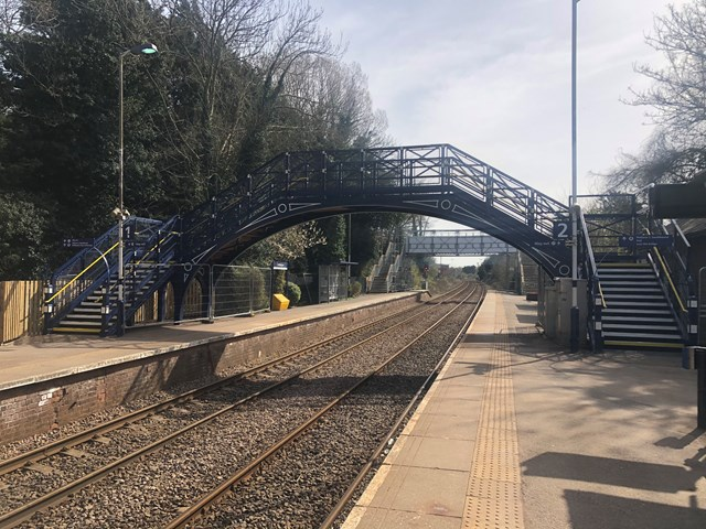 Network Rail completes footbridge revamp at Cottingham station: Refurbished footbridge at Cottingham station