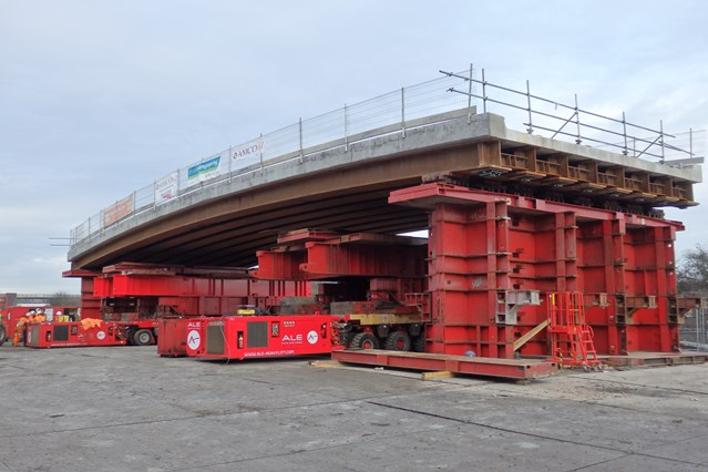 Network Rail completes key milestone in Derbyshire railway upgrade: Awsworth bridge-2