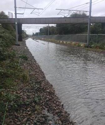 Flooding at Poulton