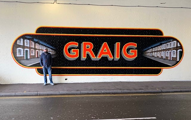 Pontypridd railway bridge transformed into a work of art: Graig Art Image