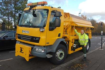 Gritters go to work in Islington as temperatures fall: Islington Gritter