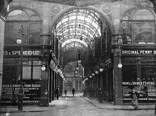 Fast x Slow Fashion online: The old Marks and Spencer Penny Bazaar as it appeared in around 1904. Credit Leodis.
