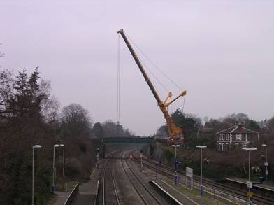 GORING BRIDGE WORKS ON TRACK AFTER SUCCESSFUL CHRISTMAS: Goring Bridge Replacement