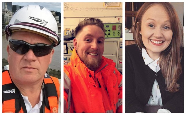 Family members at Network Rail praised by rail minister for their work in keeping the railway running: Gary, Liam and Laura Murphy