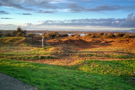 Scrub clearance near the Kenfig centre and the restored landscape character