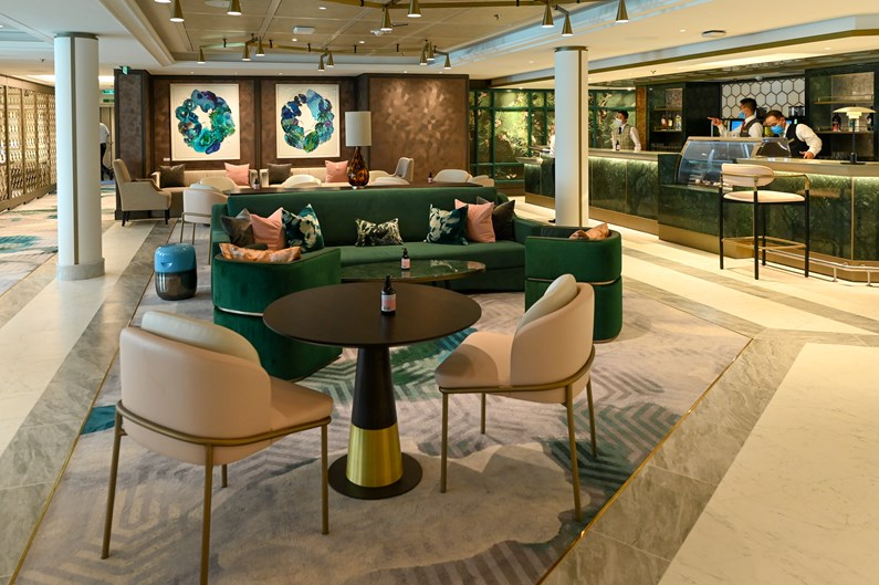 Saga Cruises' Spirit of Adventure - The Living Room with diptych artwork
