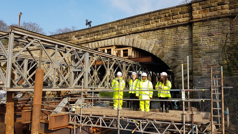 Repairs to flood-damaged Linton Bridge progressing well: lintonbridge2.jpg