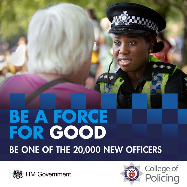 Advice for new police recruits: For image re-use please contact the press office before downloading.